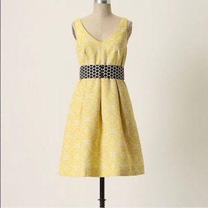 Moulinette Soeurs floral print yellow dress size 2